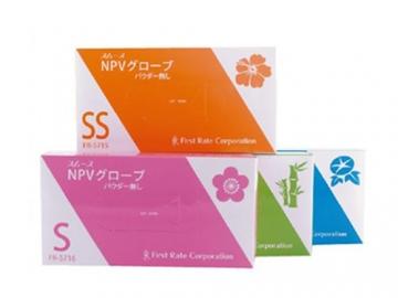 スムースNPVグローブ 100枚入×10箱 粉なしプラスチック手袋