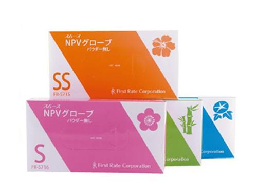 スムースNPVグローブ 100枚入 粉なしプラスチック手袋