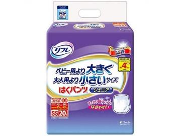 リフレ はくパンツ ジュニア 24枚×4袋 (約4回分吸収)【ケース販売】