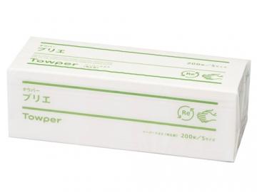 タウパープリエS ペーパータオル 200枚入×40パック(小判シングル)