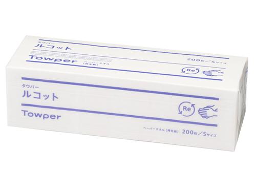 ペーパータオル タウパールコットS (小判) 200枚入×40束入