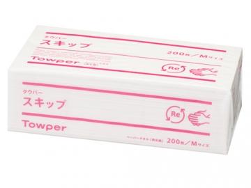 ペーパータオル タウパースキップM (中判) 200枚入×30束入