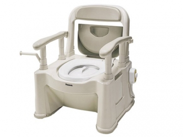 ポータブルトイレ<座楽>背もたれ型SP(あたたかタイプ)