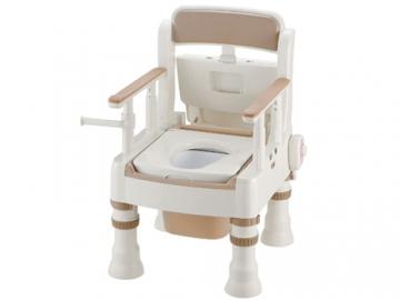 樹脂製ポータブルトイレ きらく ミニでか MH型 <暖房便座>