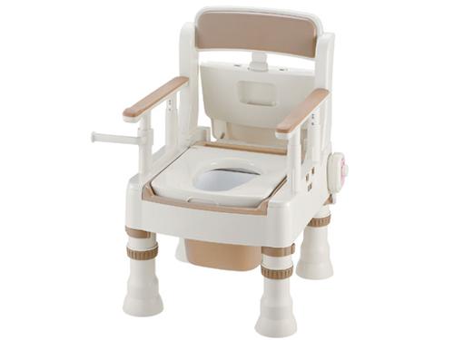 【在庫処分品】ポータブルトイレ きらく ミニでか MH-D型(脱臭器付き・暖房便座)【80%OFF】