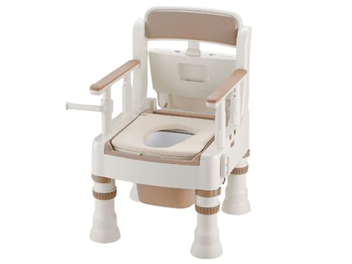 樹脂製ポータブルトイレ きらく ミニでか MS-D型 <脱臭器付き・普通便座>