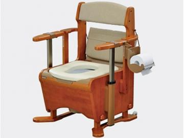 家具調トイレ〈座楽〉アウポット ひじ掛け昇降 <長穴プラスチック便座>