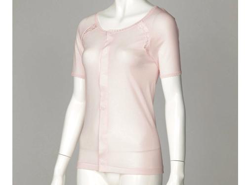 【在庫処分品】婦人用着脱かんたんシャツ(三分袖)70%OFF