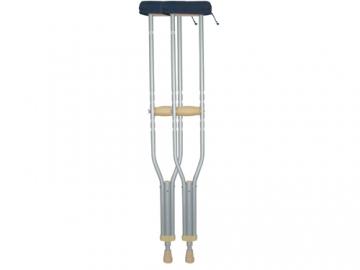 ボタン伸縮アルミ松葉杖 (2本組)