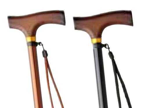 元気ステッキ 木製グリップ 伸縮タイプ(細型)