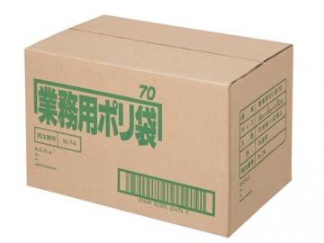 日本サニパック 業務用ポリゴミ袋 N-74 半透明 70L (10枚入×40組)