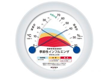 健康管理温湿度計(インフルエンザ注意計)