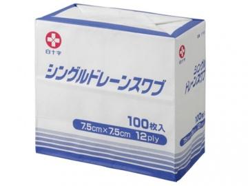 シングルドレーンスワブ 100枚入(医療用ガーゼ)