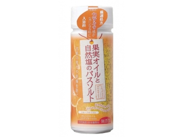 ナチュラルスパ 自然塩のバスソルト 果実オイルボトル 630g