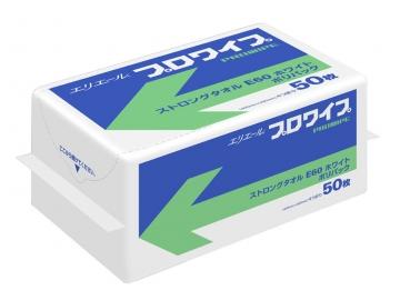 エリエール プロワイプ ストロングタオルE60 ホワイト ポリ包装 50×18パック