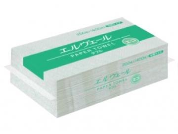 エルヴェール ペーパータオル エコダブル 200組×30パック(中判ダブル)