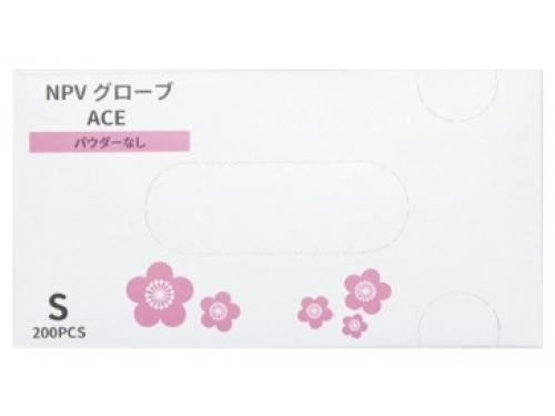 NPVグローブACE(エース) 200枚入 粉なしプラスチック手袋