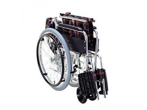 アルミ製車いす KS50ワイド(自走式・背折れタイプ)
