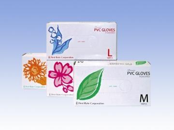 プレミアPVCグローブ 100枚入× 10箱 粉付きプラスチック手袋