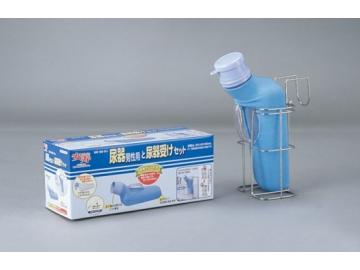 安寿 尿器と尿器受けセット(男性用)