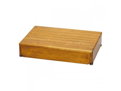 安寿 木製玄関台 60W-40-1段(幅60×奥行40×高さ12cm)