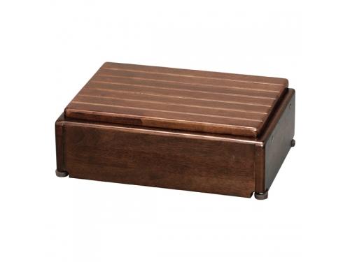 安寿 木製玄関台 S45W-30-1段(幅45×奥行28×高さ15〜22.5cm)