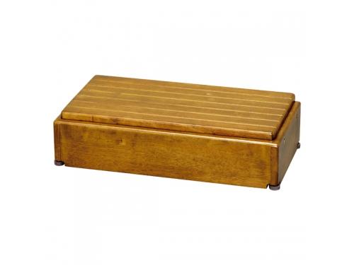安寿 木製玄関台 S60W-30-1段(幅60×奥行28×高さ15〜22.5cm)