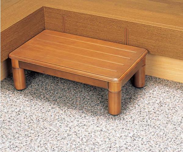 木製玄関ステップ1段 600(幅60×奥行35×高さ8〜20cm)