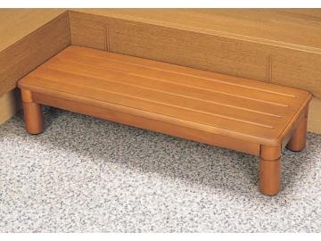 木製玄関ステップ1段 ワイド900(幅90×奥行35×高さ8〜20cm)