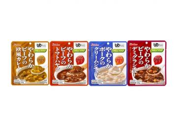 【便利な詰合せ】 やさしくラクケア やわらかビーフおかず4種詰合せ (20食)