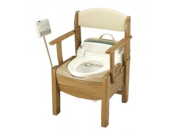 【在庫処分品】木製ポータブルトイレ きらく S型 【75%OFF】