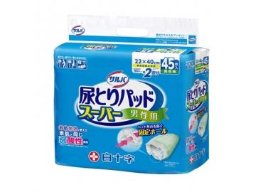 【在庫処分品】サルバ 尿とりパッドスーパー 男性用 45枚入(約2回分吸収)