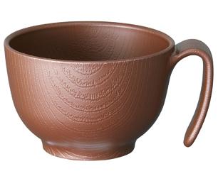 木目 持ちやすい茶碗ハンドル付