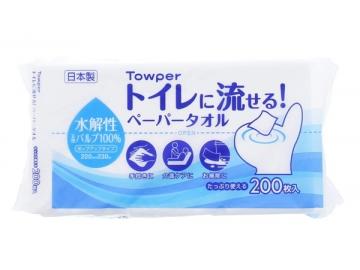 タウパー トイレに流せる!ペーパータオル 200枚×35パック(中判)