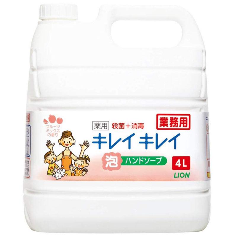 キレイキレイ 泡ハンドソープ(フルーツミックスの香り)4L×3本