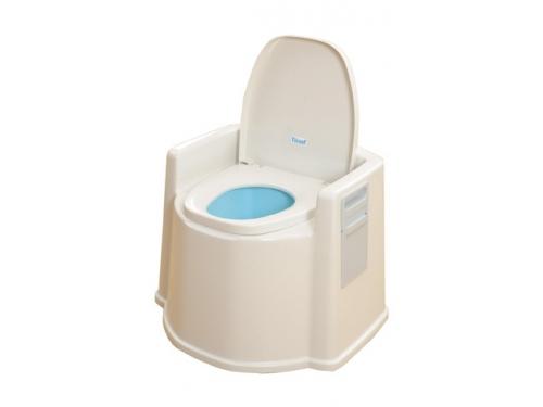 【在庫処分品】テイコブポータブルトイレ(肘掛け付)PT02【53%OFF】