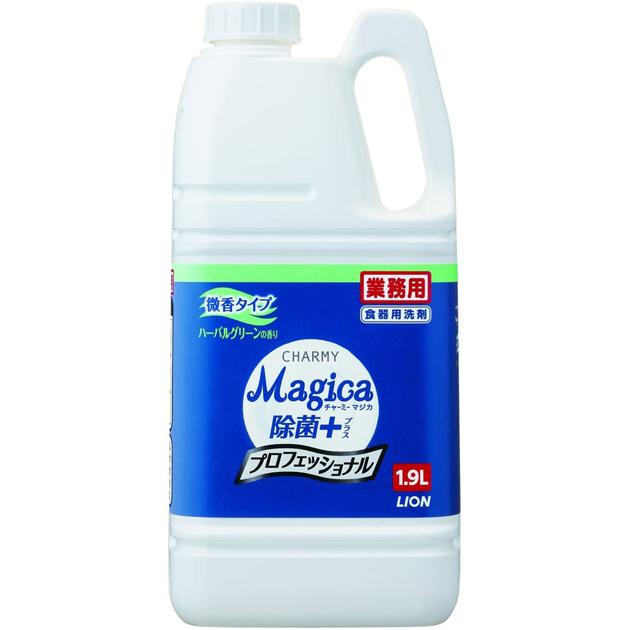 チャーミー マジカ 除菌プラス 微香ハーバルグリーンの香り1.9L×6本(台所用洗剤)
