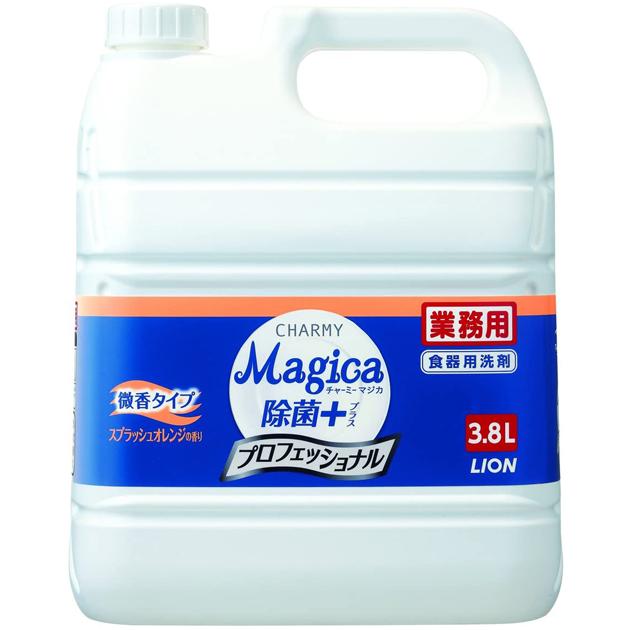 チャーミーマジカ 除菌プラス スプラッシュオレンジの香り 3.8L×3本(台所用洗剤)