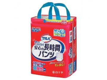 【在庫処分品】サルバ Dパンツしっかりガード長時間 M-Lサイズ 18枚入(約5回分吸収)