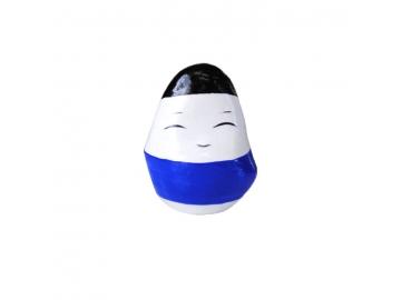 起き上がり小法師 小 (3cm) 青 会津民芸品 福島土産