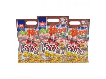 東北限定 柿の種 いか焼き醤油マヨネーズ味 3点セット