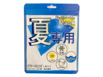 ファッショナブル接触冷感マスク フリーサイズ(1枚入)