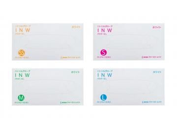 ニトリルグローブINW ホワイト 100枚入×10箱 粉なしニトリル製手袋