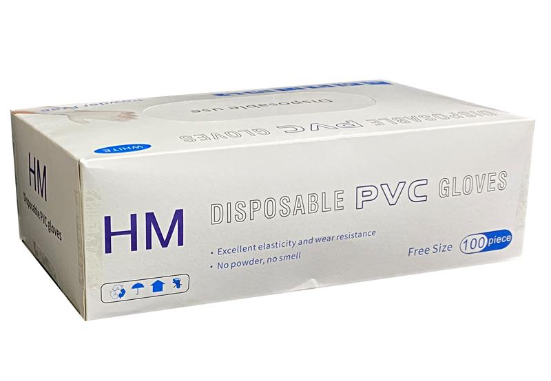 ディスポーザブルPVCグローブ 100枚入×10箱 粉なしプラスチック手袋