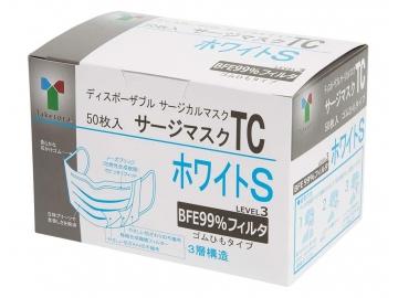 【女性・お子様向け】サージマスクTC 50枚入/ホワイトS(レベル3フィルター)