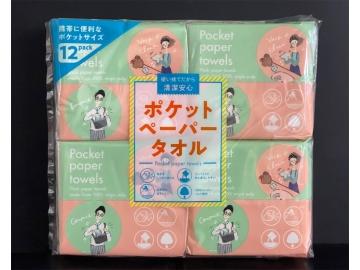 携帯用ポケットペーパータオル 10組×12パック(小判ダブル)
