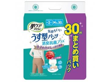 【セール品】肌ケア アクティ気持ちいいうす型パンツ 消臭抗菌プラス(約2回分吸収)