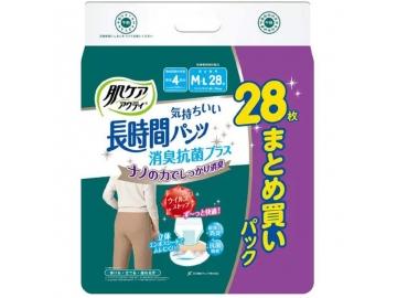 【セール品】肌ケア アクティ 気持ちいい長時間パンツ 消臭抗菌プラス(約4回分吸収)