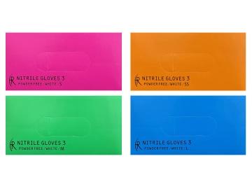 ニトリルグローブ3/ホワイト 200枚入×10箱  粉なしニトリル手袋