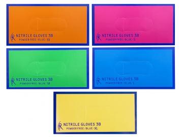 ニトリルグローブ3B/ブルー 200枚入×10箱  粉なしニトリル手袋